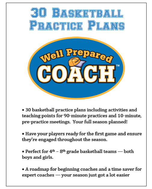 Youth Basketball Practice Plans Coaching Book