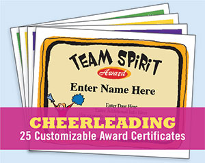 cheerleading certificate templates image