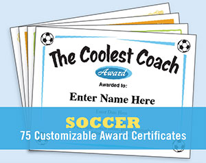 soccer certificate templates image