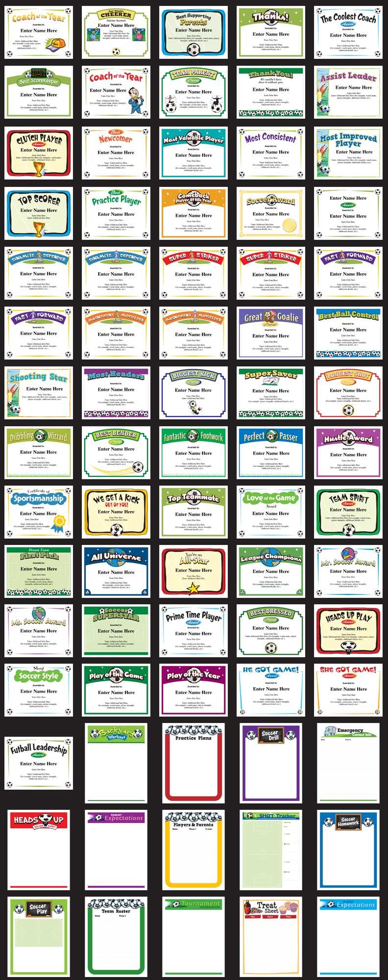 best soccer certificates image