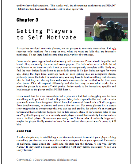 Youth Football Coaching Book