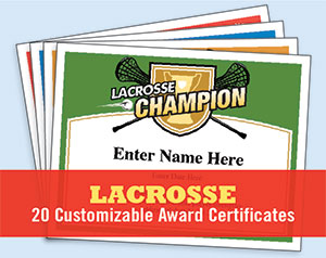 lacrosse certificates button
