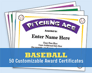 baseball certificate templates image