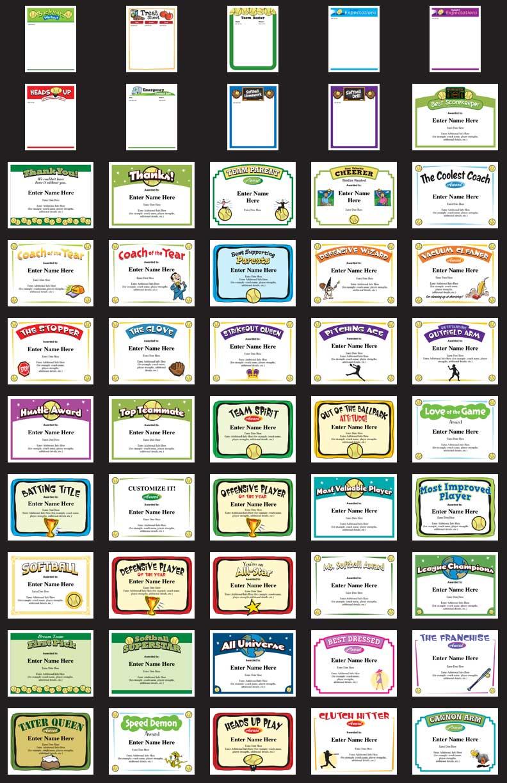 Softball award certificates and coaching forms best softball certificates image yelopaper Choice Image