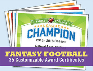 fantasy football certificates button