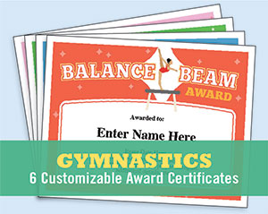 gymnastics award button