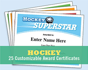 hockey certificate templates button