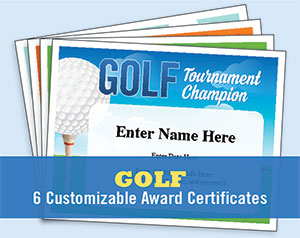 golf certificates button