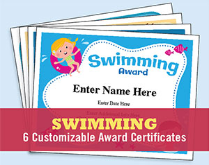 swimming certificates button